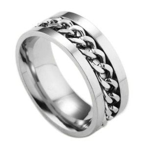 Other - Silver Rotatable Chain Stainless Steel Ring